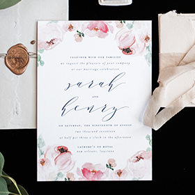 Nature Inspired Wedding Suite | Blush Paper Co.